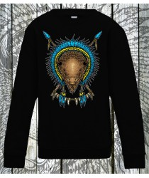 Bison Spiritual Animal Sweatshirts