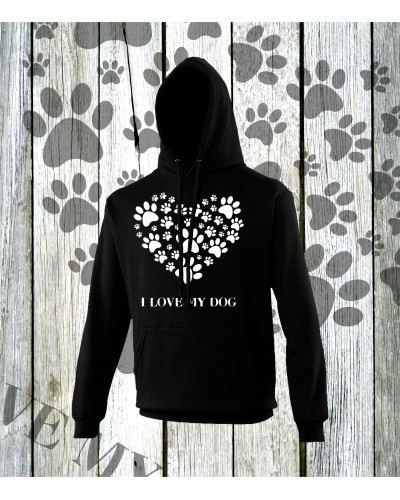 I Love My Dog Hoodies
