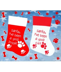 Christmas Stocking I've Been a Good Doggie or Cat