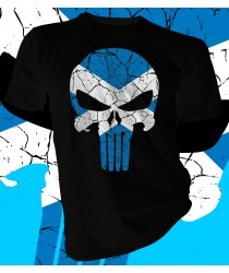 St Andrews Cross Scotland Skull