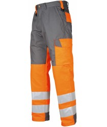 ProJob EN471-Class 2 Yellow-Orange All Purpose Flat Fronted Trousers