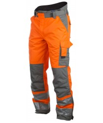 ProJob EN ISO 20471 Yellow/Orange Lined Trousers Lee