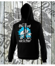 Blue Beach Surf Hoodies